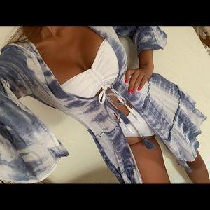 Other - White/ blue tie dye dress 😍